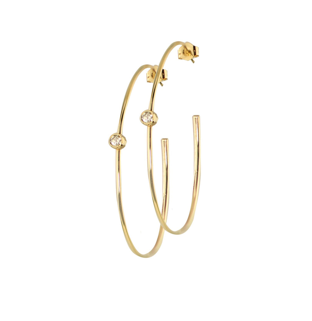 Aisha Diamond Hoops