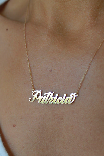 Handcrafted Name Plate Necklace