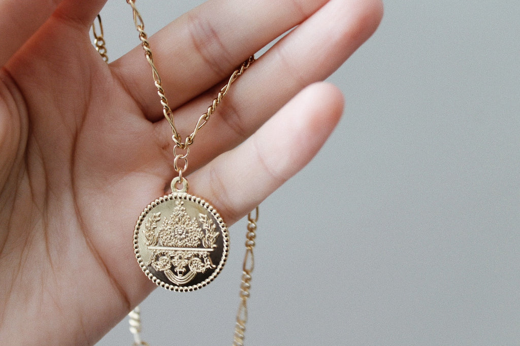 Bloom Flower Coin Necklace