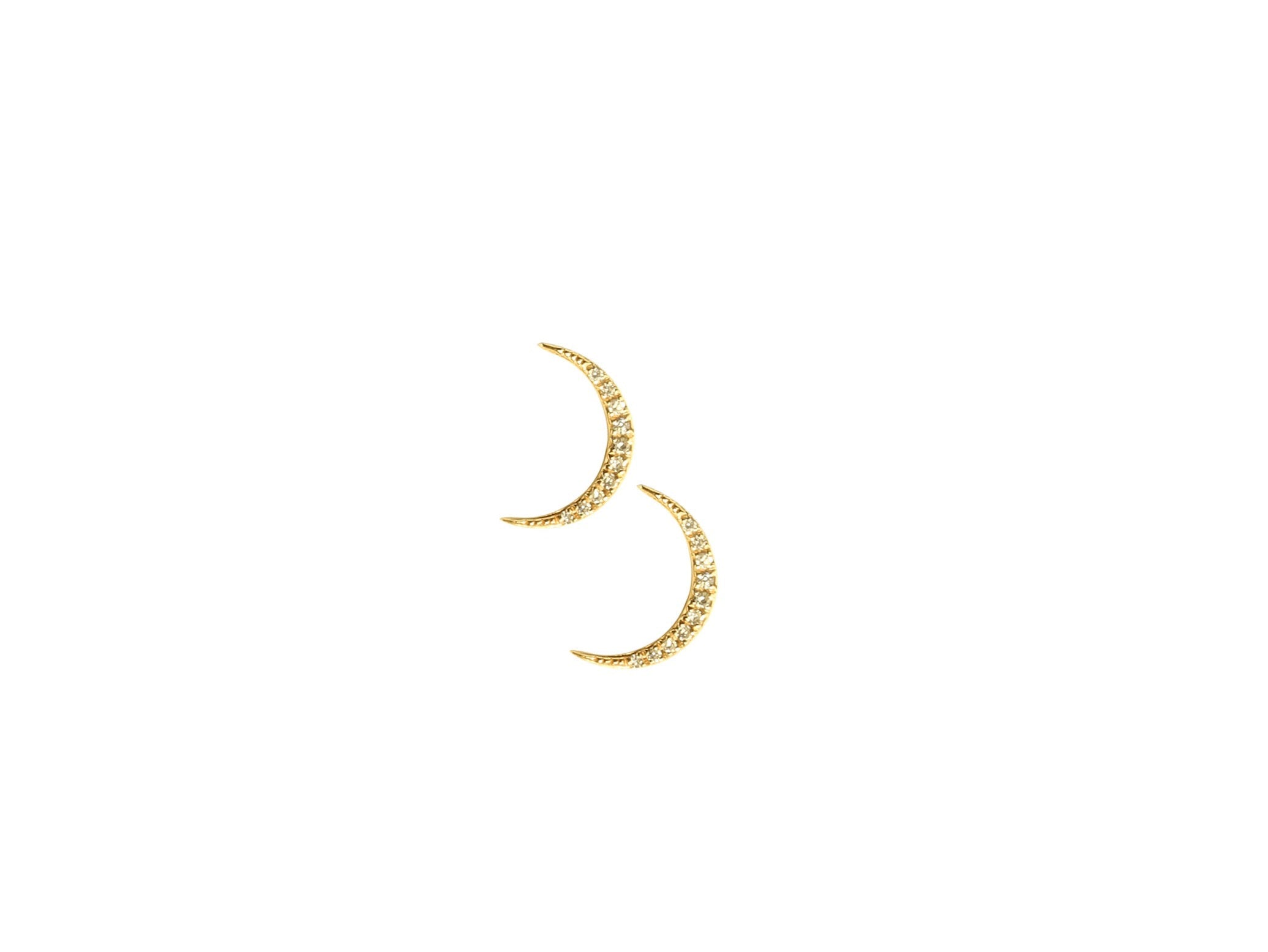 Moon Diamond Studs