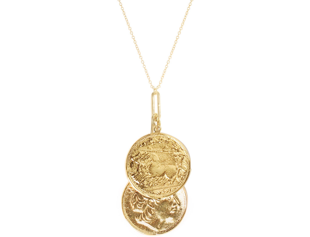 Alea Two Coin Necklace