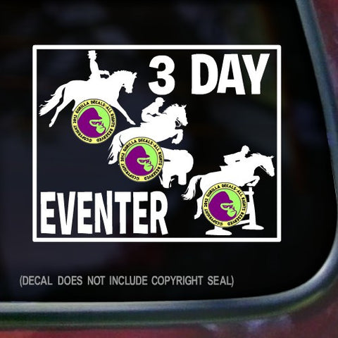 3 DAY EVENTER FRAMED Vinyl Decal Sticker