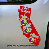 CALIFORNIA 3 DAY EVENTING Vinyl Decal Sticker