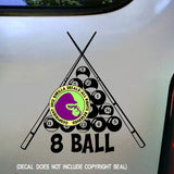 8 BALL POOL Billiards Vinyl Decal Sticker