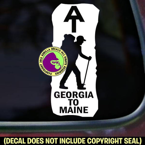 "APPALACHIAN TRAIL ""Blaze"" GEORGIA TO MAINE Vinyl Decal Sticker"