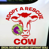 ADOPT A RESCUE COW Vinyl Decal Sticker