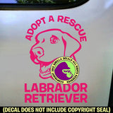 LABRADOR RETRIEVER - Adopt a Rescue - Dog Vinyl Decal Sticker