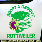 ROTTWEILER - Adopt A Rescue - Dog Vinyl Decal Sticker