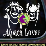 ALPACA LOVER Vinyl Decal Sticker