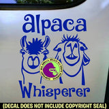 ALPACA WHISPERER Vinyl Decal Sticker