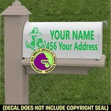 ANCHOR MAILBOX Set - ADD YOUR NAME & ADDRESS Vinyl Decal Sticker