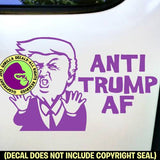 ANTI TRUMP AF Resist President Vinyl Decal Sticker
