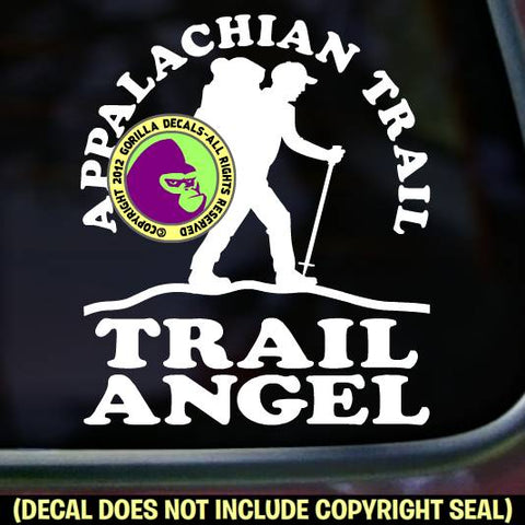 APPALACHIAN TRAIL ANGEL Hiking Vinyl Decal Sticker