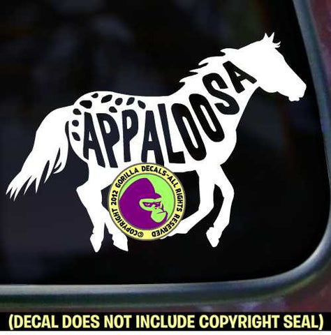 APPALOOSA Word Inside Horse Vinyl Decal Sticker