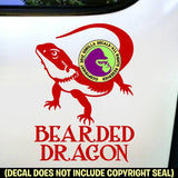 """BEARDED DRAGON"" - BEARDED DRAGON Vinyl Decal Sticker"