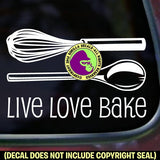 LIVE LOVE BAKE Chef Tools Vinyl Decal Sticker