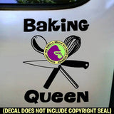 BAKING QUEEN Vinyl Decal Sticker