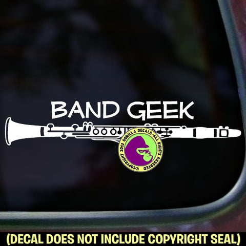 Clarinet - BAND GEEK Vinyl Decal Sticker