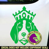 BEAGLE - with Crown - Dog Vinyl Decal Sticker