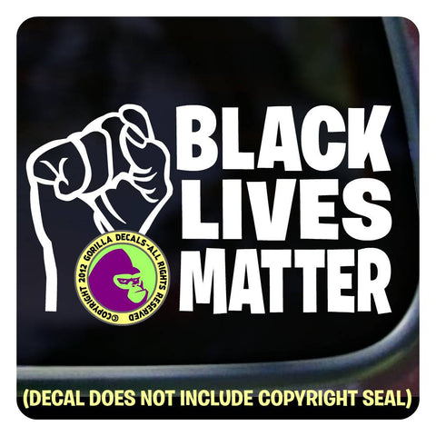 BLACK LIVES MATTER - FIST Vinyl Decal Sticker