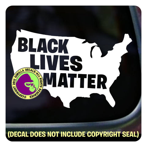 BLACK LIVES MATTER - USA Vinyl Decal Sticker