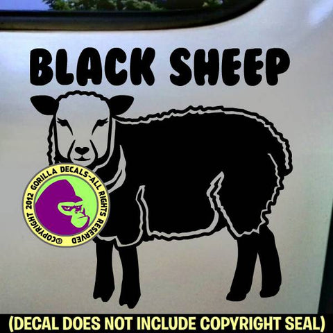 BLACK SHEEP Vinyl Decal Sticker