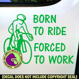 BORN TO CYCLE Biking Road Vinyl Decal Sticker