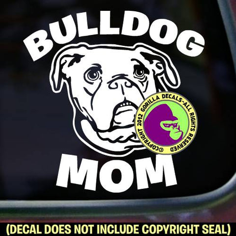 Bulldog - MOM - Dog Breed Love Vinyl Decal Sticker