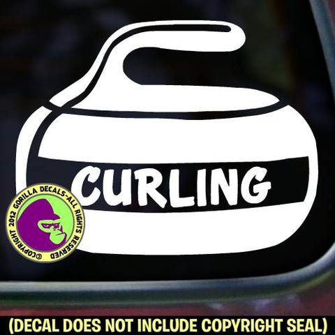 CURLING Stone Sport Game Player Vinyl Decal Sticker