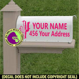 Cactus MAILBOX Set - ADD YOUR NAME & ADDRESS Vinyl Decal Sticker
