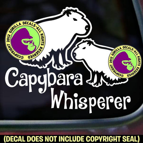 CAPYBARA WHISPERER Pet Capy Love Rodent Vinyl Decal Sticker