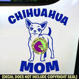 Chihuahua - MOM - Dog Breed Love Vinyl Decal Sticker