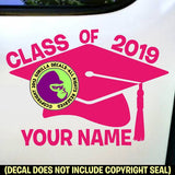CLASS OF 2019 CUSTOM NAME Vinyl Decal Sticker