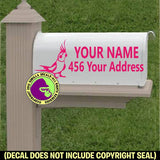 COCKATIEL Custom Mailbox Set Parrot Vinyl Decal Sticker