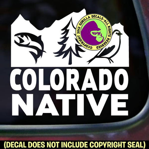 COLORADO STATE NATIVE Vinyl Decal Sticker
