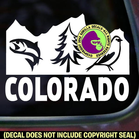 COLORADO STATE Vinyl Decal Sticker
