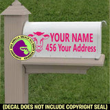 COW Farm MAILBOX Set - ADD YOUR NAME & ADDRESS Vinyl Decal Sticker
