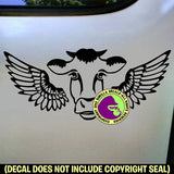 COWS with WINGS Vinyl Decal Sticker