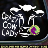 CRAZY COW LADY Vinyl Decal Sticker