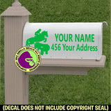 Cross Country Horse Rider MAILBOX Set - ADD YOUR NAME & ADDRESS Vinyl Decal Sticker