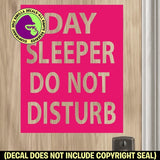 DAY SLEEPER Vinyl Decal Sticker