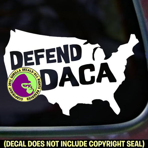 DEFEND DACA - USA Resist Vinyl Decal Sticker