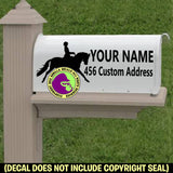 Dressage MAILBOX Set - ADD YOUR NAME & ADDRESS Vinyl Decal Sticker