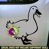 Duck Bird Vinyl Decal Sticker