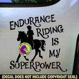 ENDURANCE IS MY SUPERPOWER Rider Vinyl Decal Sticker