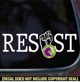 FIST INSIDE RESIST Word Vinyl Decal Sticker Vinyl Decal Sticker