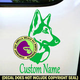 GERMAN SHEPHERD Dog - ADD YOUR CUSTOM WORDS - Vinyl Decal Sticker