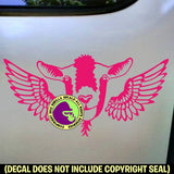 GOAT with WINGS Vinyl Decal Sticker