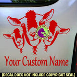 Goats #2 - ADD YOUR CUSTOM WORDS - Vinyl Decal Sticker