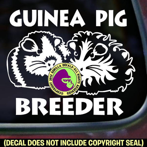 GUINEA PIG BREEDER Vinyl Decal Sticker